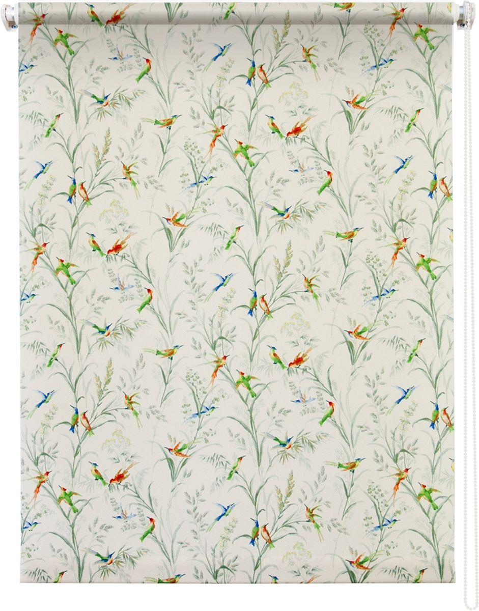 Штора рулонная Уют Парадиз, цвет: белый, 120 х 175 см62.РШТО.8914.120х175Штора рулонная Уют Парадиз выполнена из прочного полиэстера с обработкой специальным составом, отталкивающим пыль. Ткань не выцветает, обладает отличной цветоустойчивостью и хорошей светонепроницаемостью. Изделие оформлено изысканным рисунком в виде птичек, сидящих на ветках, отлично подойдет для спальни, гостиной, кухни. Штора закрывает не весь оконный проем, а непосредственно само стекло и может фиксироваться в любом положении. Она быстро убирается и надежно защищает от посторонних взглядов. Компактность помогает сэкономить пространство. Универсальная конструкция позволяет крепить штору на раму без сверления, также можно монтировать на стену, потолок, створки, в проем, ниши, на деревянные или пластиковые рамы. В комплект входят регулируемые установочные кронштейны и набор для боковой фиксации шторы. Возможна установка с управлением цепочкой как справа, так и слева. Изделие при желании можно самостоятельно уменьшить. Такая штора станет прекрасным элементом...