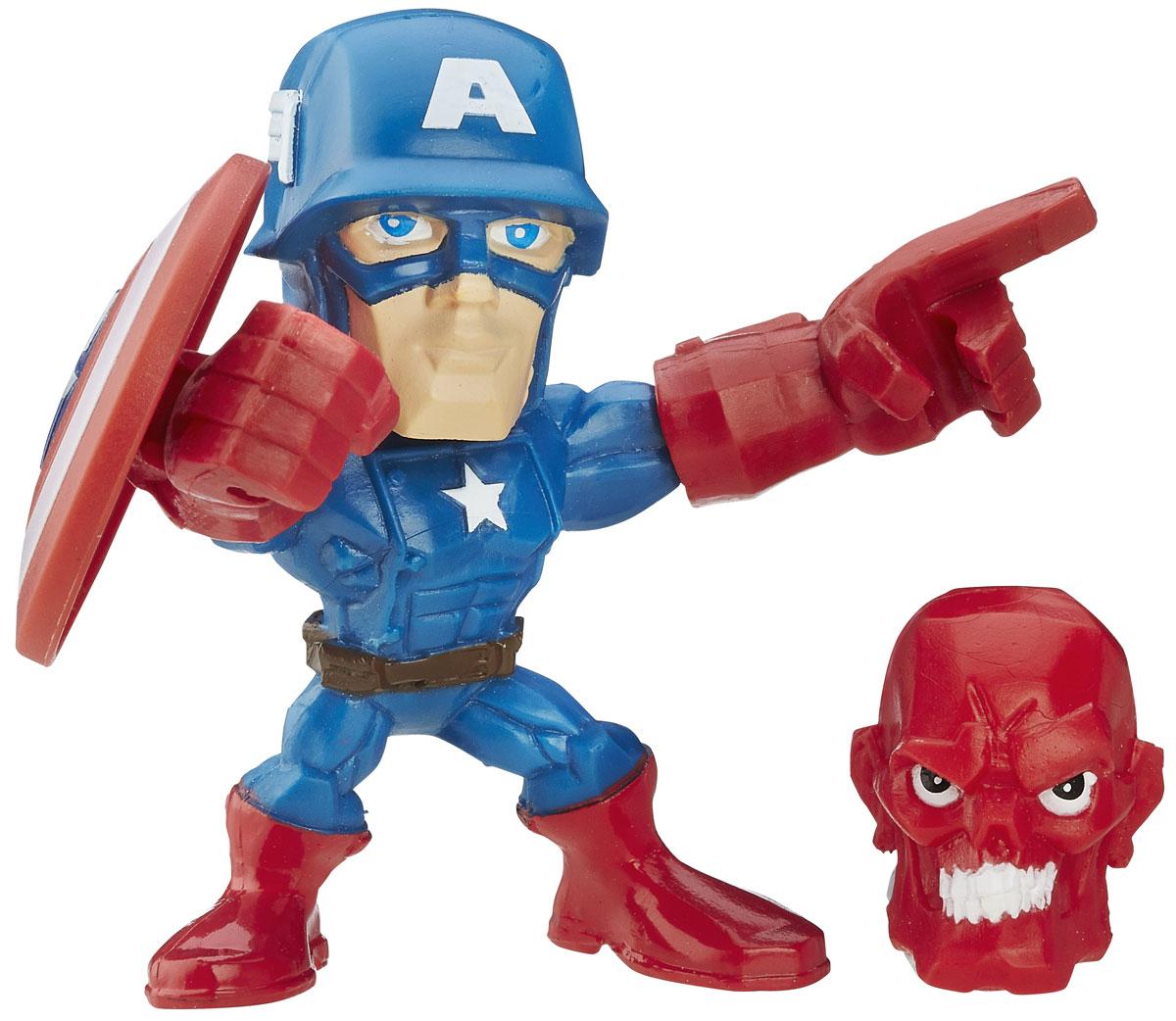 Hero Mashers Фигурка Captain AmericaB6431EU4_B6691_Capitan AmericaСборная фигурка Hero Mashers Captain America станет отличным подарком всем поклонникам комиксов. В комплекте с фигуркой идет щит и голова фигурки Красного Черепа. Даже самые сильные супергерои иногда нуждаются в дополнительной руке или ноге. Сделать это теперь возможно с новой линией фигурок Super HeroMashers Micro. Несмотря на микроразмер, фигурки супергероев выглядят мощными, особенно с использованием сменных рук, ног и аксессуаров. Каждая фигурка включает в себя 3 точки для сменных элементов, что позволяет детям поменять супергерою голову и руки на те, которые они захотят! Универсальные разъемы позволяют использовать детали с любой другой фигурки героя Mashers, предоставляя свободу для создания нового супергероя! Дополнительно можно прикрепить боевое снаряжение и принадлежности для еще большей мощи!