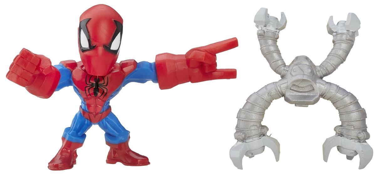 Hero Mashers Фигурка Spider-ManB6431EU4_B6691_Spider-ManСборная фигурка Hero Mashers Spider-Man станет отличным подарком всем поклонникам комиксов. В комплекте с фигуркой идет заплечный механический манипулятор с 4 клешнями. Даже самые сильные супергерои иногда нуждаются в дополнительной руке или ноге. Сделать это теперь возможно с новой линией фигурок Super Hero Mashers Micro. Несмотря на микроразмер, фигурки супергероев выглядят мощными, особенно с использованием сменных рук, ног и аксессуаров. Каждая фигурка включает в себя 3 точки для сменных элементов, что позволяет детям поменять супергерою голову и руки на те, которые они захотят! Универсальные разъемы позволяют использовать детали с любой другой фигурки героя Mashers, предоставляя свободу для создания нового супергероя! Дополнительно можно прикрепить боевое снаряжение и принадлежности для еще большей мощи!