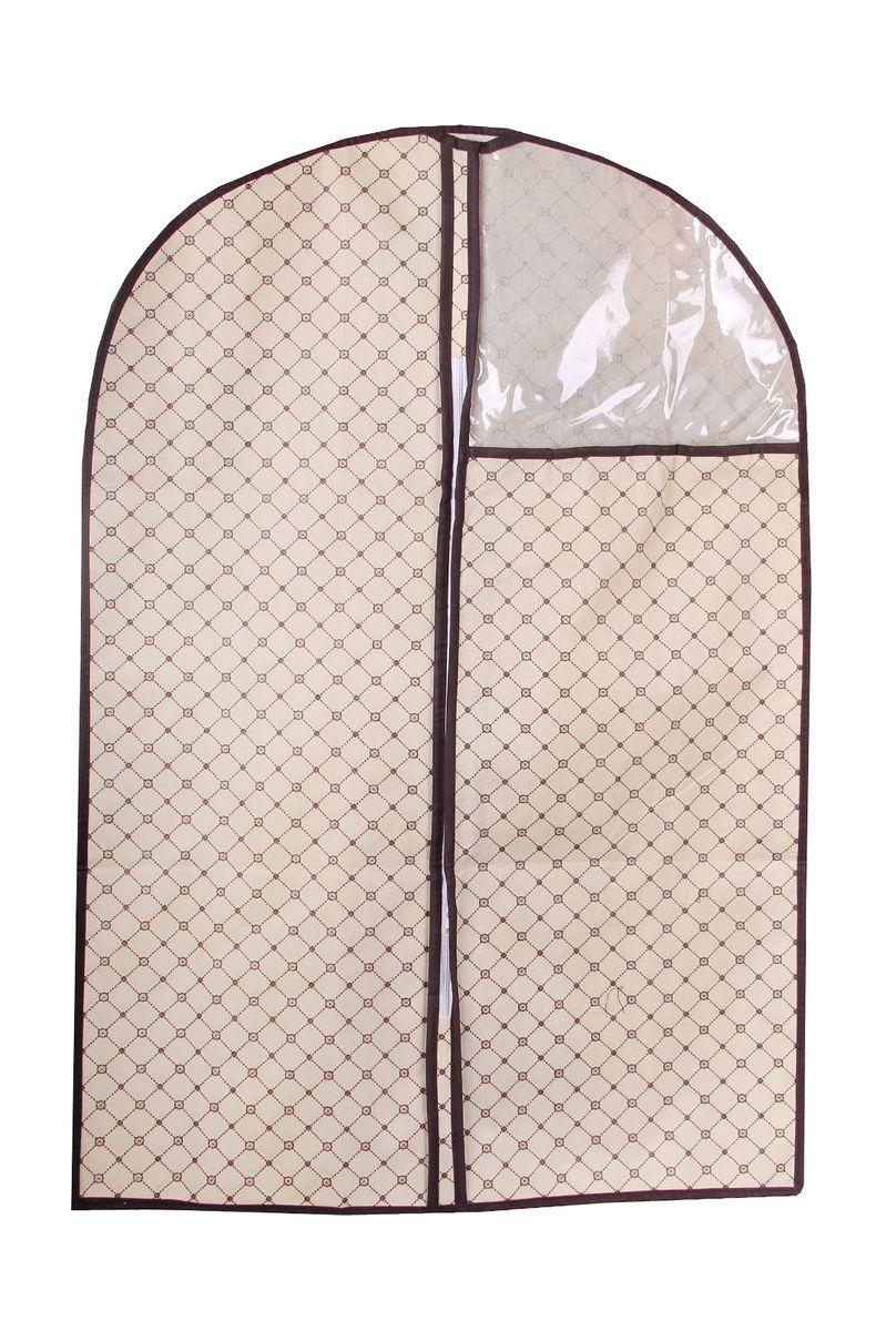 Чехол для одежды Empire of Dishes, 60 x 90 смIM99-5123Чехол для одежды Empire of Dishes, изготовленный из высококачественного нетканого материала (флизелин), защитит вашу одежду от пыли и других загрязнений, а также поможет надолго сохранить ее безупречный вид. Благодаря особой фактуре чехол не пропускает пыль, но в то же время позволяет воздуху свободно проникать внутрь, обеспечивая естественную вентиляцию. Материал легок и удобен, не образует складок. Чехол снабжен прозрачной вставкой из ПВХ, что позволяет легко просматривать содержимое. Оригинальный дизайн сделает вашу гардеробную красивой и невероятно стильной.