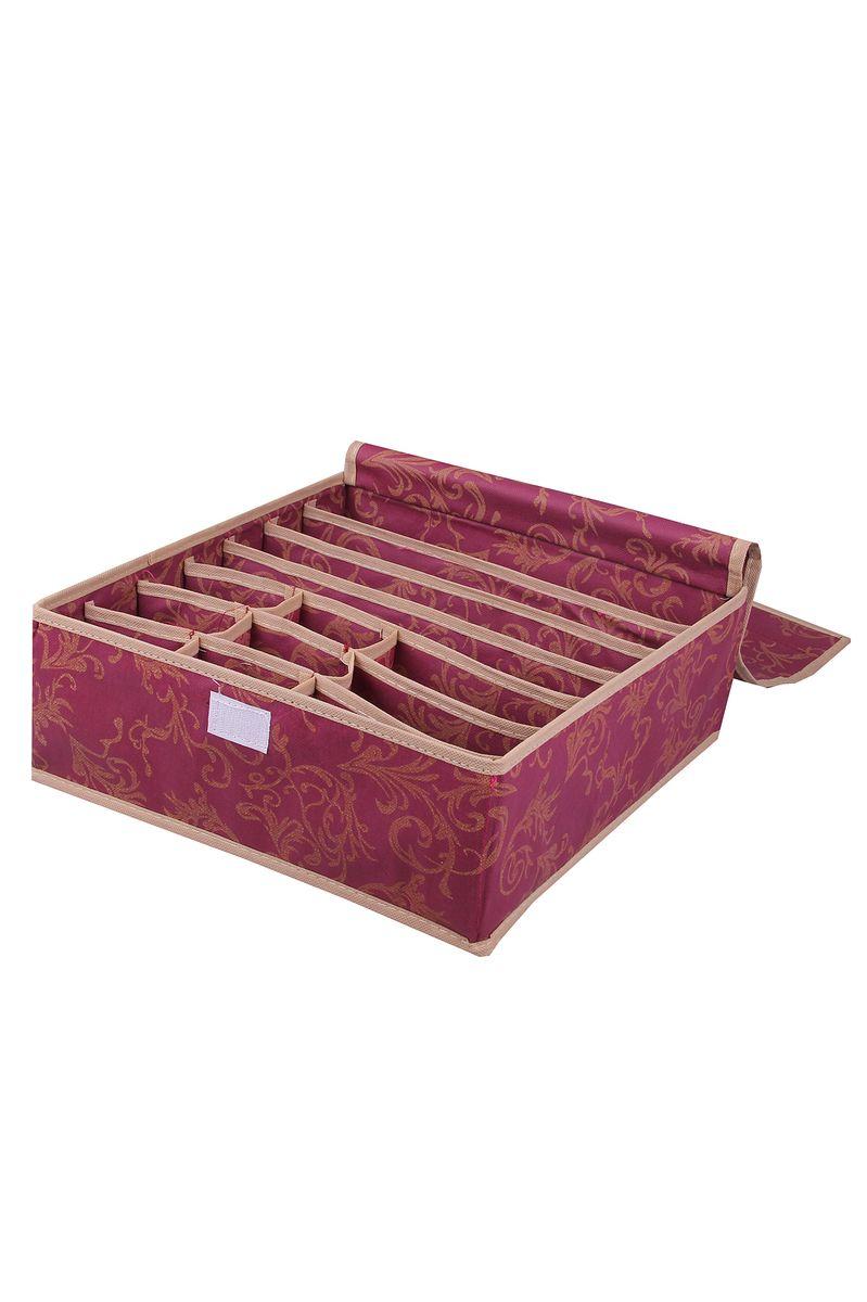 Органайзер для белья Empire of dishes, 33x30x12 см, цвет: красный. IM99-5130IM99-5130Далеко не каждый шкаф способен вместить в себя все ваши наряды. Что бы ваши вещи не пылились, упакуйте их в специальный кофр.