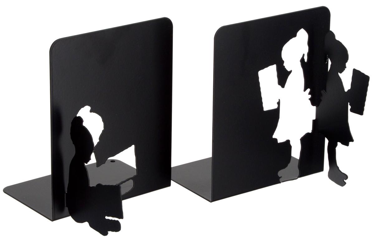 Подставка-ограничитель декоративная для книг Феникс-Презент В библиотеке, 2 шт40648Декоративная подставка-ограничитель для книг Феникс- Презент В библиотеке, изготовленная из металла, состоит из двух частей, с помощью которых можно подпирать книги с двух сторон. Изделия оформлены декоративными фигурками в виде читающих детей и снабжены противоскользящими подложками из этиленвинилацетата. Между ограничителями можно поместить неограниченное количество книг. Подставка-ограничитель для книг Феникс-Презент В библиотеке - это не только подставка, но и интересный элемент декора, который ярко дополнит интерьер помещения. Размер подставок-ограничителей: 15 х 12 х 15 см. Комплектация: 2 шт.