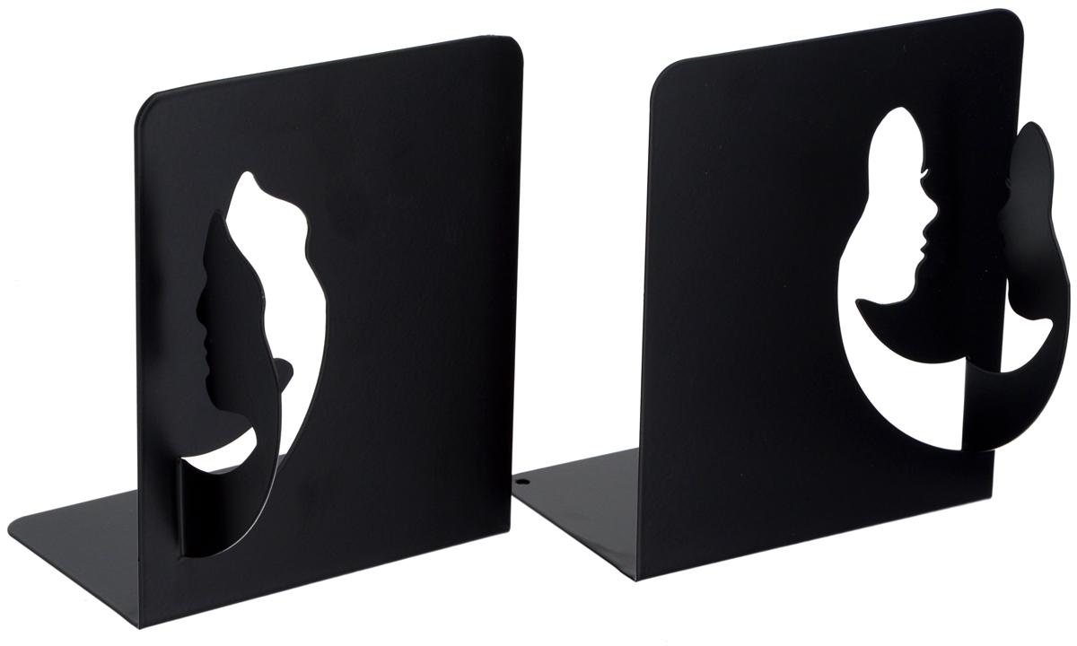 Подставка-ограничитель декоративная для книг Феникс-Презент Лица, 2 шт40646Декоративная подставка-ограничитель для книг Феникс- Презент Лица, изготовленная из металла, состоит из двух частей, с помощью которых можно подпирать книги с двух сторон. Изделия оформлены декоративными фигурками в виде лиц в профиль и снабжены противоскользящими подложками из этиленвинилацетата. Между ограничителями можно поместить неограниченное количество книг. Подставка-ограничитель для книг Феникс-Презент Лица - это не только подставка, но и интересный элемент декора, который ярко дополнит интерьер помещения. Размер одной части подставки-ограничителя: 13 х 12 х 15 см. Комплектация: 2 шт.