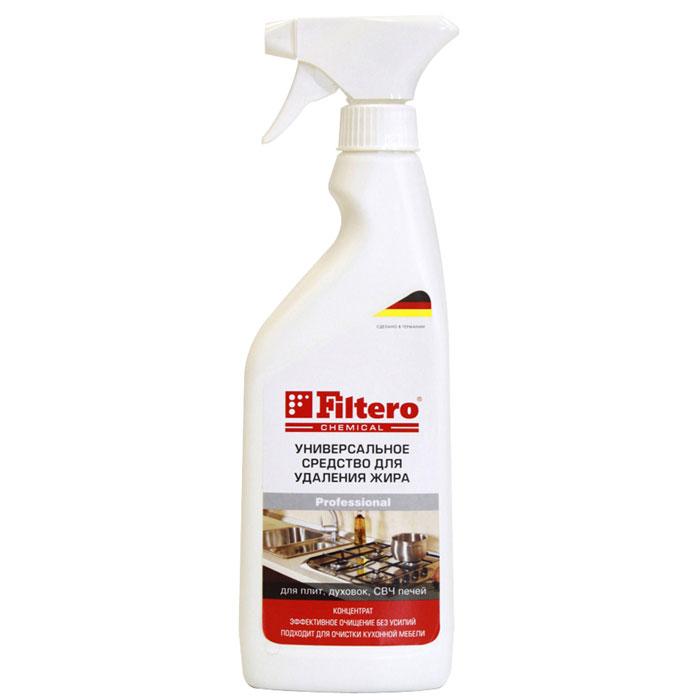Filtero Средство для удаления жира, 500 мл501Концентрированное средство Filtero для удаления жира. Уникальное сочетание компонентов позволяет очистить как поверхностные загрязнения, так и въевшиеся пятна. Активные компоненты глубоко проникают внутрь загрязнения, что позволяет легко и бережно удалить их с поверхности. Приятный аромат облегчит уборку. Средство Filtero эффективно на всех видах поверхностей: плита, кафель, раковина, СВЧ, духовка, металлические фильтры в посудомоечных машинах и кухонная мебель.