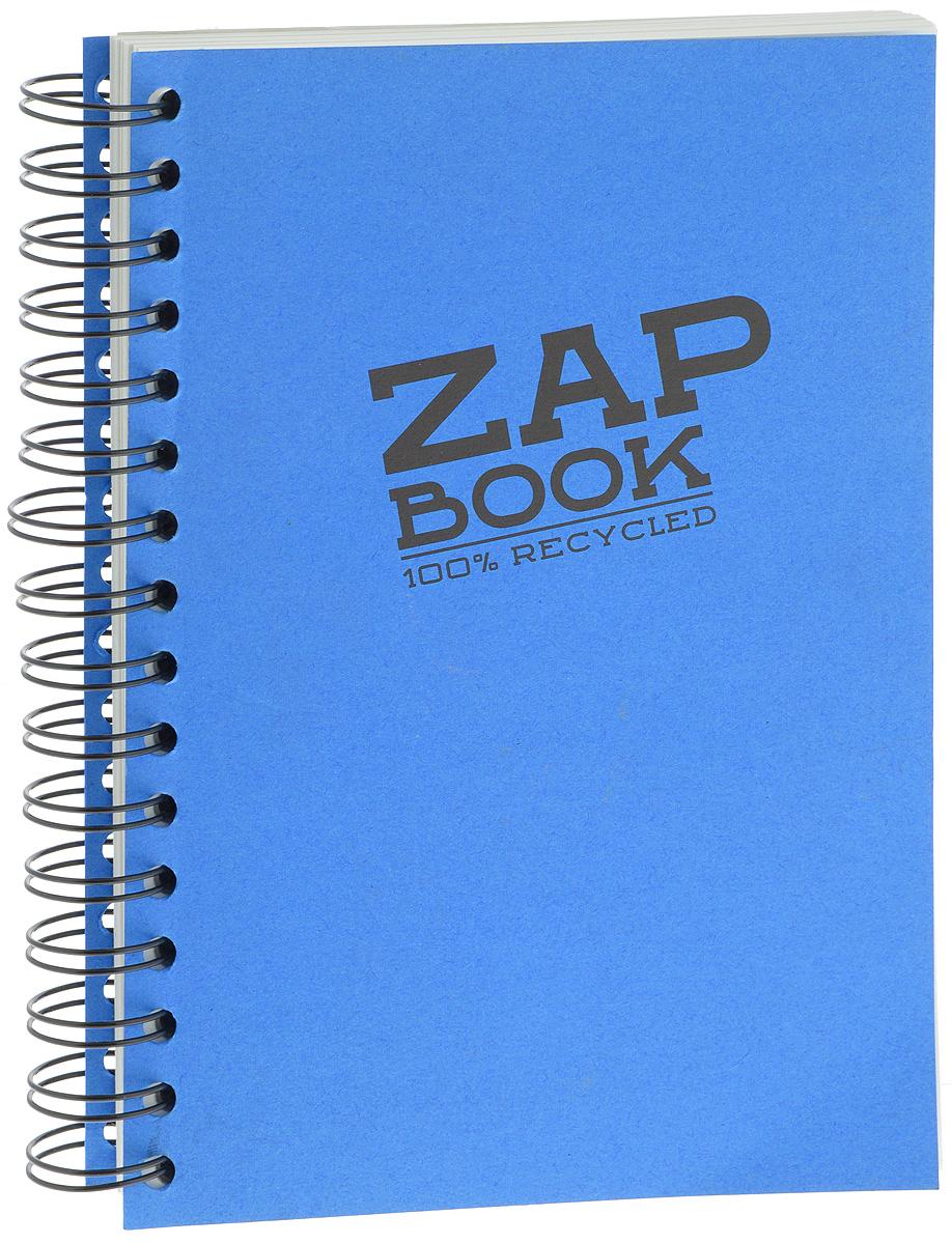Clairefontaine Блокнот для эскизов Zap Book 160 листов цвет синий8355Блокнот для набросков Clairefontaine Zap Book на спирали содержит 160 листов, выполненных из переработанной бело-серой бумаги. Листы не разлинованы. Обложка выполнена из картона. Блокнот идеален для рисования и письма, также подойдет для эскизов и набросков.