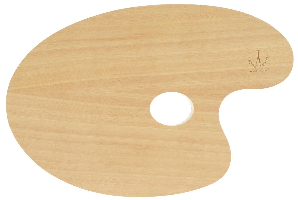 Палитра для смешивания красок Cappelletto, овальная, 29,5 х 19,5 см13-1Овальная палитра Cappelletto изготовлена из высококачественного дерева бука и предназначена для смешивания красок. Изделие покрыто специальным защитным составом, что позволяет легко очистить инструмент после работы. Такая палитра станет незаменимым инструментом для художника. Размер палитры: 29,5 х 19,5 см.