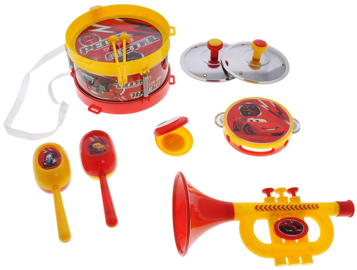 Играем вместе Набор музыкальных инструментов Тачки 10 предметовB817295-R3Набор музыкальных инструментов Играем вместе Тачки познакомит ребенка с различными видами музыкальных инструментов. Набор включает в себя: барабан с палочками, 2 тарелки, бубен, кастаньета, 2 маракаса и труба. Играя с этим набором, ребенок развивает слух и чувство ритма, воображение и мелкую моторику рук. Можно пригласить друзей и поиграть целым оркестром. Набор выполнен из качественных материалов и оформлен изображениями персонажей из мультфильма Тачки. Порадуйте свое драгоценное чадо столь интересным, занимательным и развлекательным подарком.