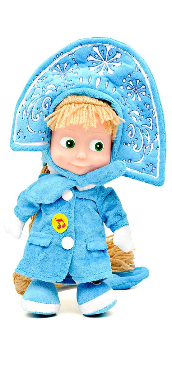 Мульти-Пульти Мягкая озвученная игрушка Маша-снегурочка 25 смV86108/25XВеселую девочку Машу из мультфильма Маша и Медведь знают, пожалуй, все. Миллионы детей и взрослых любят трогательный мультфильм о дружбе белокурой девочки и бурого медведя. Замечательная мягкая игрушка Маша-снегурочка станет прекрасным подарком, как в преддверии Нового Года, так и в любой другой праздник. Кукла Маша умеет говорить 6 фраз и даже петь песенку из мультфильма. Игрушка озвучена голосом персонажа из мультфильма. Игрушка Маша-снегурочка изготовлена из высококачественных экологически-чистых материалов и соответствует европейским и мировым стандартам качества. Рекомендуется докупить 3 батарейки типа LR44 (товар комплектуется демонстрационными).