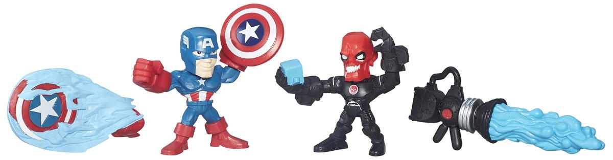 Hero Mashers Набор фигурок Captain America vs Iron SkullB6432_B6689_Capitan America vs Iron SkullНабор сборных фигурок Hero Mashers Captain America vs Iron Skull станет отличным подарком всем поклонникам комиксов. В комплекте 2 фигурки, щит с рукой, оружие Красного черепа, дополнительный щит Капитана Америки. Даже самые сильные супергерои иногда нуждаются в дополнительной руке или ноге. Сделать это теперь возможно с новой линией фигурок Super HeroMashers Micro. Несмотря на микроразмер, фигурки супергероев выглядят мощными, особенно с использованием сменных рук, ног и аксессуаров. Каждая фигурка включает в себя 3 точки для сменных элементов, что позволяет детям поменять супергерою голову и руки на те, которые они захотят! Универсальные разъемы позволяют использовать детали с любой другой фигурки героя Mashers, предоставляя свободу для создания нового супергероя! Дополнительно можно прикрепить боевое снаряжение и принадлежности для еще большей мощи!