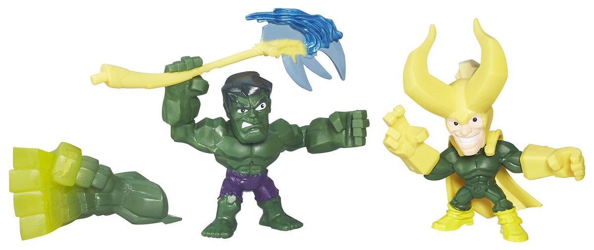 Hero Mashers Набор фигурок Hulk vs LokiB6432_B6688_Hulk vs LokiНабор сборных фигурок Hero Mashers Hulk vs Loki станет отличным подарком всем поклонникам комиксов. В комплекте 2 фигурки, дополнительная рука Халка, топор Локи. Даже самые сильные супергерои иногда нуждаются в дополнительной руке или ноге. Сделать это теперь возможно с новой линией фигурок Super Hero Mashers Micro. Несмотря на микроразмер, фигурки супергероев выглядят мощными, особенно с использованием сменных рук, ног и аксессуаров. Каждая фигурка включает в себя 3 точки для сменных элементов, что позволяет детям поменять супергерою голову и руки на те, которые они захотят! Универсальные разъемы позволяют использовать детали с любой другой фигурки героя Mashers, предоставляя свободу для создания нового супергероя! Дополнительно можно прикрепить боевое снаряжение и принадлежности для еще большей мощи!