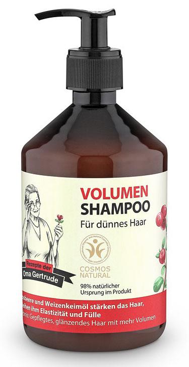 Рецепты бабушки Гертруды Шампунь для волос объем, 500 мл074-4831В состав шампуня входят природные компоненты благодаря чему он мягко очищает и ухаживает за тонкими волосами, придает им пышность и объем. Масло семян клюквы содержит жирные кислоты Омега 3 и витамин Е, который является мощным природным антиоксидантом, он глубоко питает и разглаживает волосы. Органическое масло пшеницы содержит в себе уникальный комплекс из аминокислот, витаминов и микроэлементов, которые интенсивно увлажняют и восстанавливают структуру волос, делая их более блестящими, легкими и упругими. Особенности состава: 98% ингредиентов натурального происхождения, Пшеница и клюква защищают волосы, придают им эластичность и объем. Результат: более ухоженные, блестящие и объемные волосы.