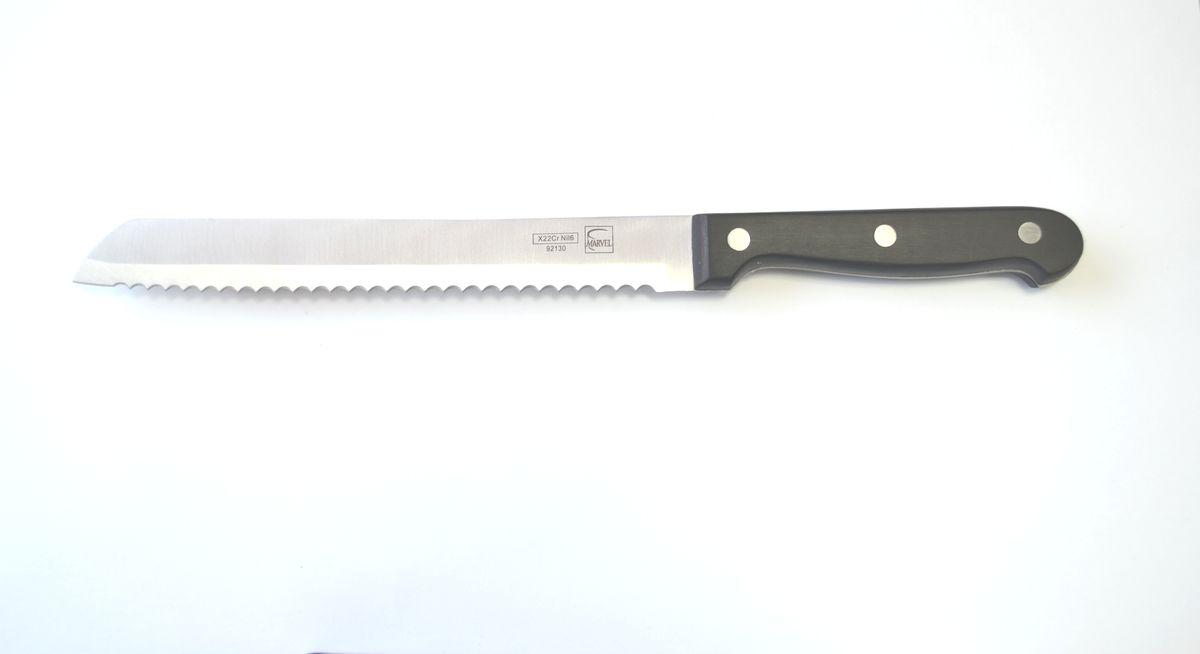 Нож для нарезки хлеба Marvel Classic Series, цвет: серый, длина лезвия 20 см. 9213092130