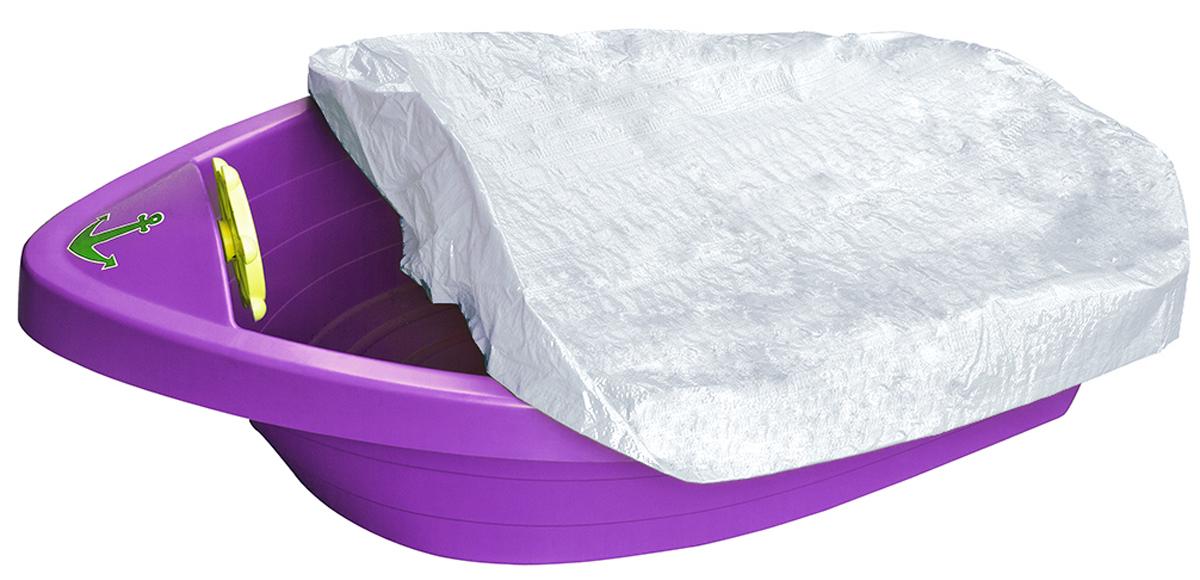 Marian Plast Бассейн с покрытием Лодочка цвет фиолетовый