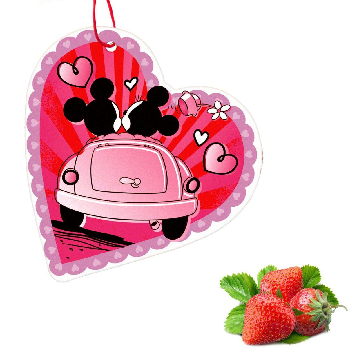 Ароматизатор в авто Disney Микки Маус. Любовь 2, 8,6 х 16,1 см1149009Яркость в серые городские будни и скучную езду по пробкам добавит ароматизатор в авто. В нем сочетаются эксклюзивный дизайн и приятный аромат. Повесьте его на зеркало, и любимые герои уничтожат неприятные запахи. Если у вас нет автомобиля — не беда! Повесьте ароматизатор дома или на работе и наслаждайтесь чудесным благоуханием.