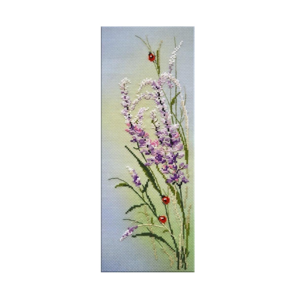 Набор для вышивания крестом Овен Полевые цветы, 11 х 32 см486417Наборы для вышивания Овен - это яркие и красочные мотивы, работа над которыми принесет вам удовольствие. В состав набора для вышивания Полевые цветы входит: канва Аида № 14 с нанесенным рисунком, нитки мулине - 14 цветов, игла.