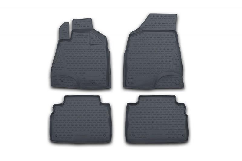 Набор автомобильных ковриков Novline-Autofamily для BMW X5 1999-2006, в салон, цвет: серый, 4 штNLC.05.29.211kНабор автомобильных ковриков Novline-Autofamily, изготовленный из полиуретана, состоит из 4 ковриков, которые учитывают все особенности каждой модели автомобиля и полностью повторяют контуры пола. Полиуретановые автомобильные коврики для салона произведены из высококачественного материала, который держит форму, прочный и не пачкает обувь. Коврики в салон не только улучшат внешний вид салона вашего автомобиля, но и надежно уберегут его от пыли, грязи и сырости, а значит, защитят кузов от коррозии. Полиуретановые коврики для автомобиля гладкие, приятные и не пропускают влагу. Ковры для автомобилей надежно крепятся на полу и не скользят, что очень важно во время движения. Чистятся коврики очень просто: как при помощи автомобильного пылесоса, так и различными моющими средствами. Набор подходит для BMW X5 1999-2006 годов выпуска.