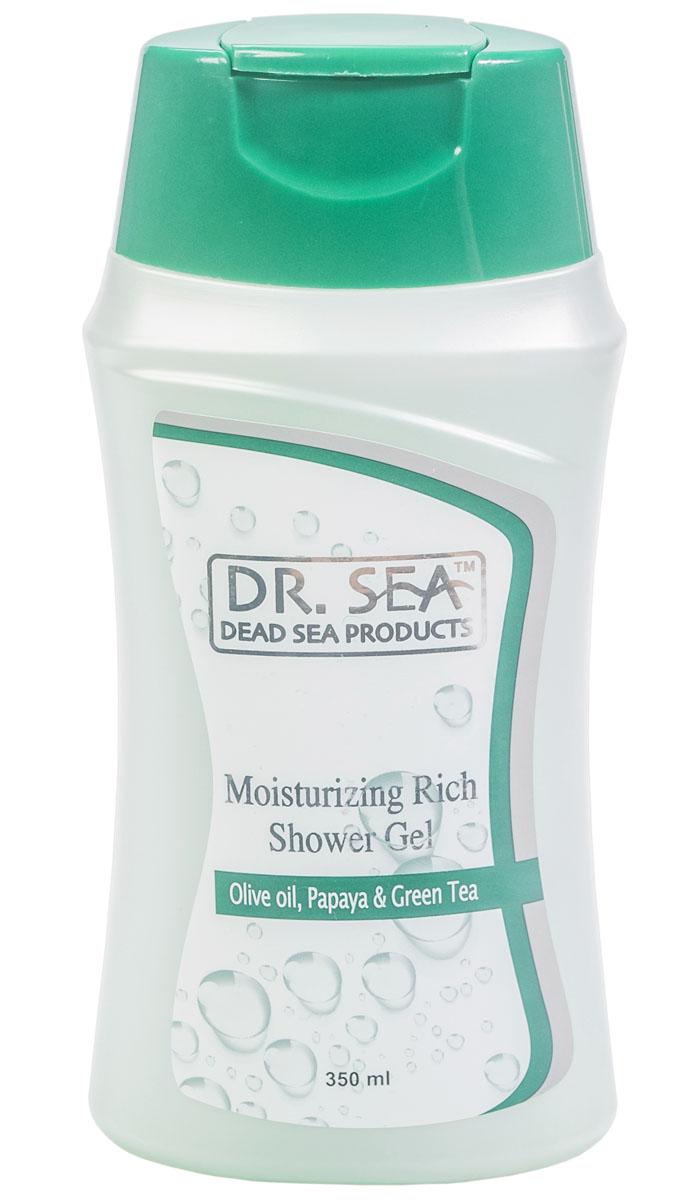 Dr Sea Увлажняющий гель для душа, масло оливы, папайя и зеленый чай, 350 мл234Нежный гель с бархатистой консистенцией. Содержит минералы Мертвого моря, экстракты папайи и водоросли дуналиеллы солоноводной . Обладает питающим, увлажняющим и расслабляющим эффектом благодаря экстракту зеленого чая, оливковому маслу и провитамину В5. После применения геля кожа становится гладкой и приятной на ощупь.