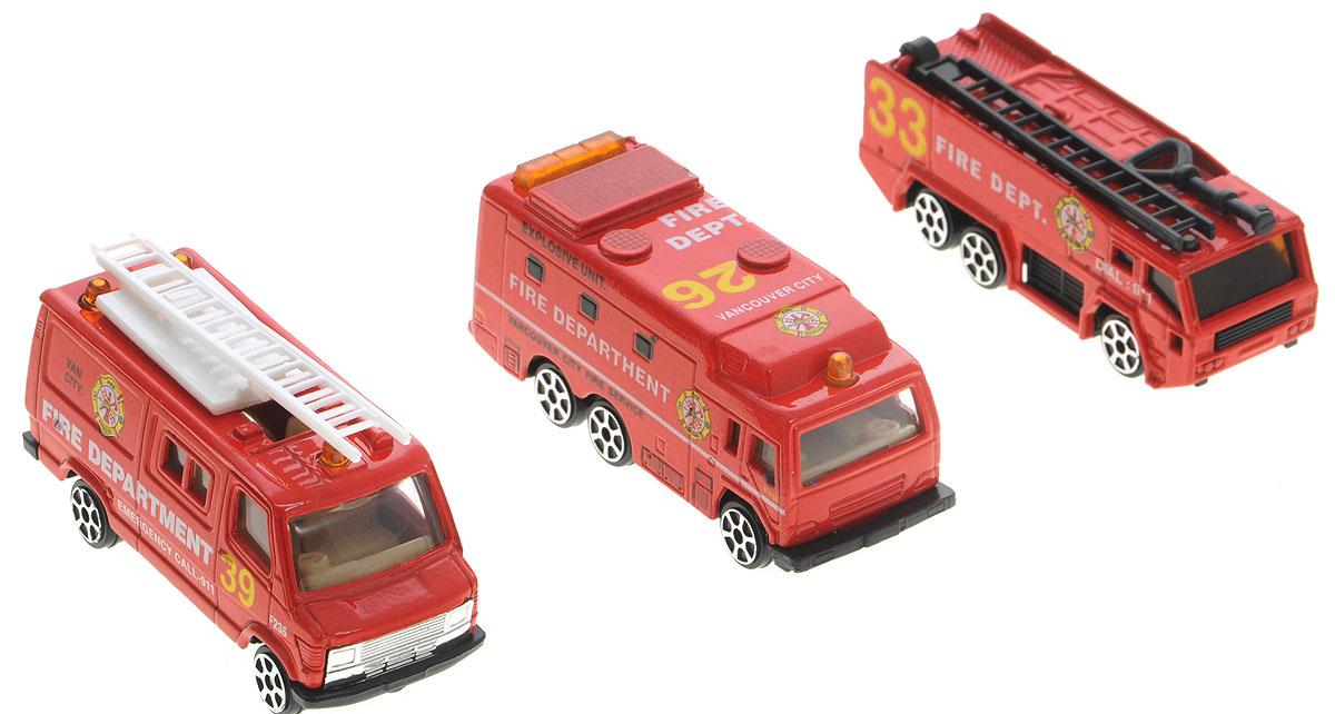 Pro-Engine Набор машинок Пожарная служба 3 штPT2049_пожарная службаНабор машинок Pro-Engine Пожарная служба представляет собой 3 машины, выполненные в виде точных копий пожарной техники. Модели отличаются высоким качеством исполнения и детализации. Корпус моделей выполнен из металла, стекла изготовлены из прочного прозрачного пластика. Колеса машинок имеют свободный ход. Ваш ребенок часами будет играть с набором, придумывая различные истории. Порадуйте его таким замечательным подарком!