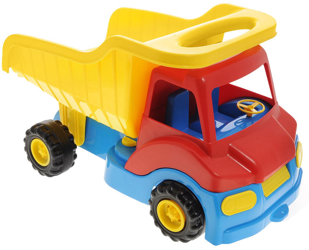 Zebratoys Самосвал Super Active15-5613Самосвал Zebratoys Super Active станет прекрасным подарком для ребенка. Игрушка выполнена из прочного высококачественного полипропилена с металлическими элементами. Самосвал имеет просторный кузов, который можно наполнить песком или важным игрушечным грузом. Кузов игрушки откидывается, что предоставит малышу дополнительный простор для игры. Все элементы машинки имеют увеличенные размеры, малышу будет удобно играть с ней. Игры с такой машинкой развивают концентрацию внимания, координацию движений, мелкую моторику рук, цветовое восприятие и воображение. Малыш будет с удовольствием играть с этим самосвалом, придумывая различные истории. Уважаемые клиенты! Обращаем ваше внимание на ассортимент в цвете товара. Поставка возможна в зависимости от наличия на складе.