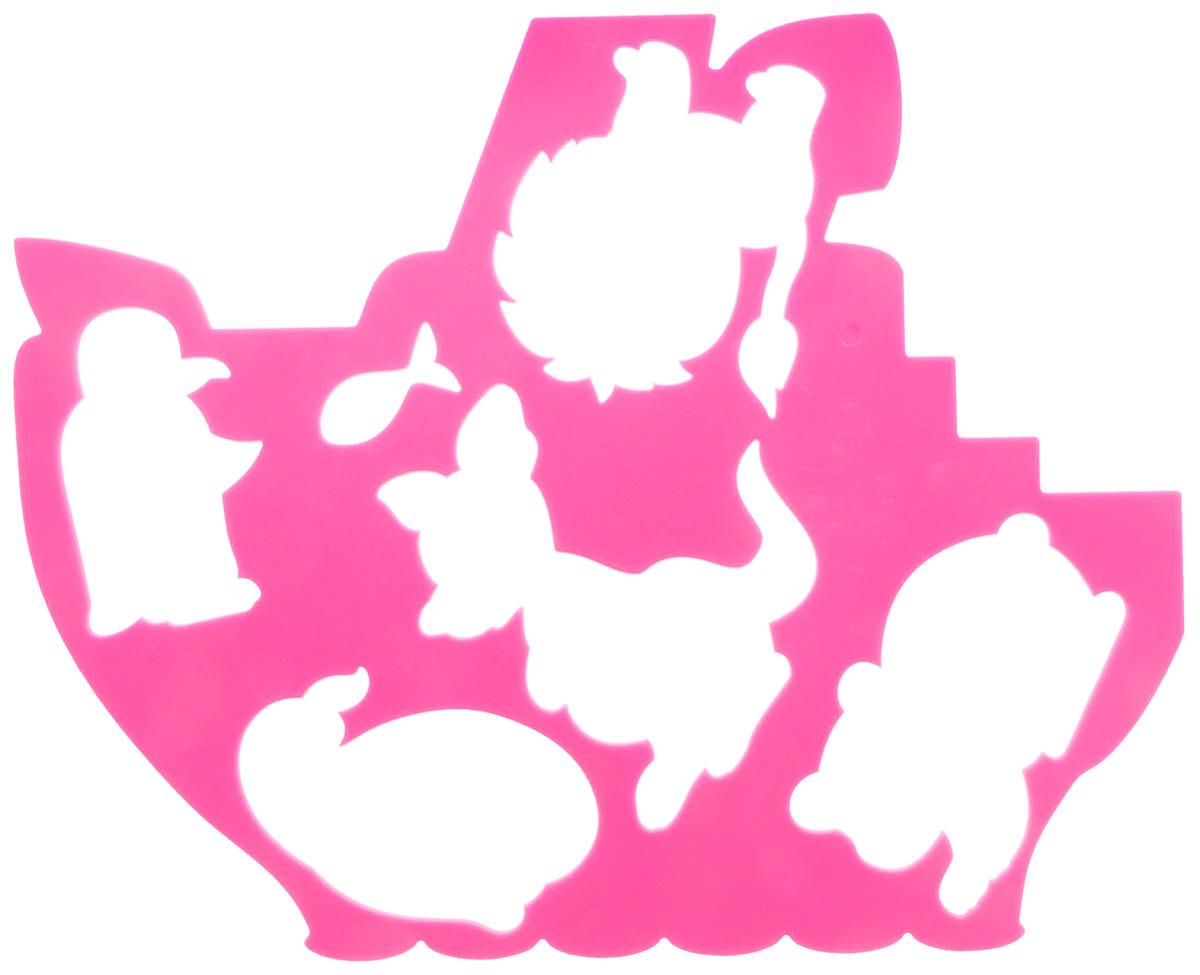 Луч Трафарет фигурный Кораблик и друзья цвет розовый18С 1209-08_розТрафарет фигурный Луч Кораблик и друзья, выполненный из безопасного пластика, предназначен для детского творчества. При помощи этого трафарета ребенок может нарисовать кораблик, который плавает по морям и океанам. На фигурном трафарете размещены контуры медвежонка, пингвина, кенгуру, львенка, кита и маленькой рыбки. Трафарет можно использовать для рисования отдельных животных и композиций из них, а также для изготовления аппликаций. Трафареты предназначены для развития у детей мелкой моторики и зрительно-двигательной координации, навыков художественной композиции и зрительного восприятия.
