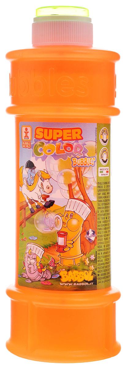 Babbol Мыльные пузыри Super Color Bubbles цвет оранжевый 500 мл1504-0009_оранжевыйМыльные пузыри Babbol Super Color Bubbles станут отличным развлечением на любой праздник! Парящие в воздухе, большие и маленькие, блестящие мыльные пузыри всегда привлекают к себе внимание не только детишек, но и взрослых. Смеющиеся ребята с удовольствием забавляются и поднимают настроение всем окружающим, создавая неповторимую веселую атмосферу солнечного радостного дня. В крышку встроена игрушка-лабиринт с шариком.