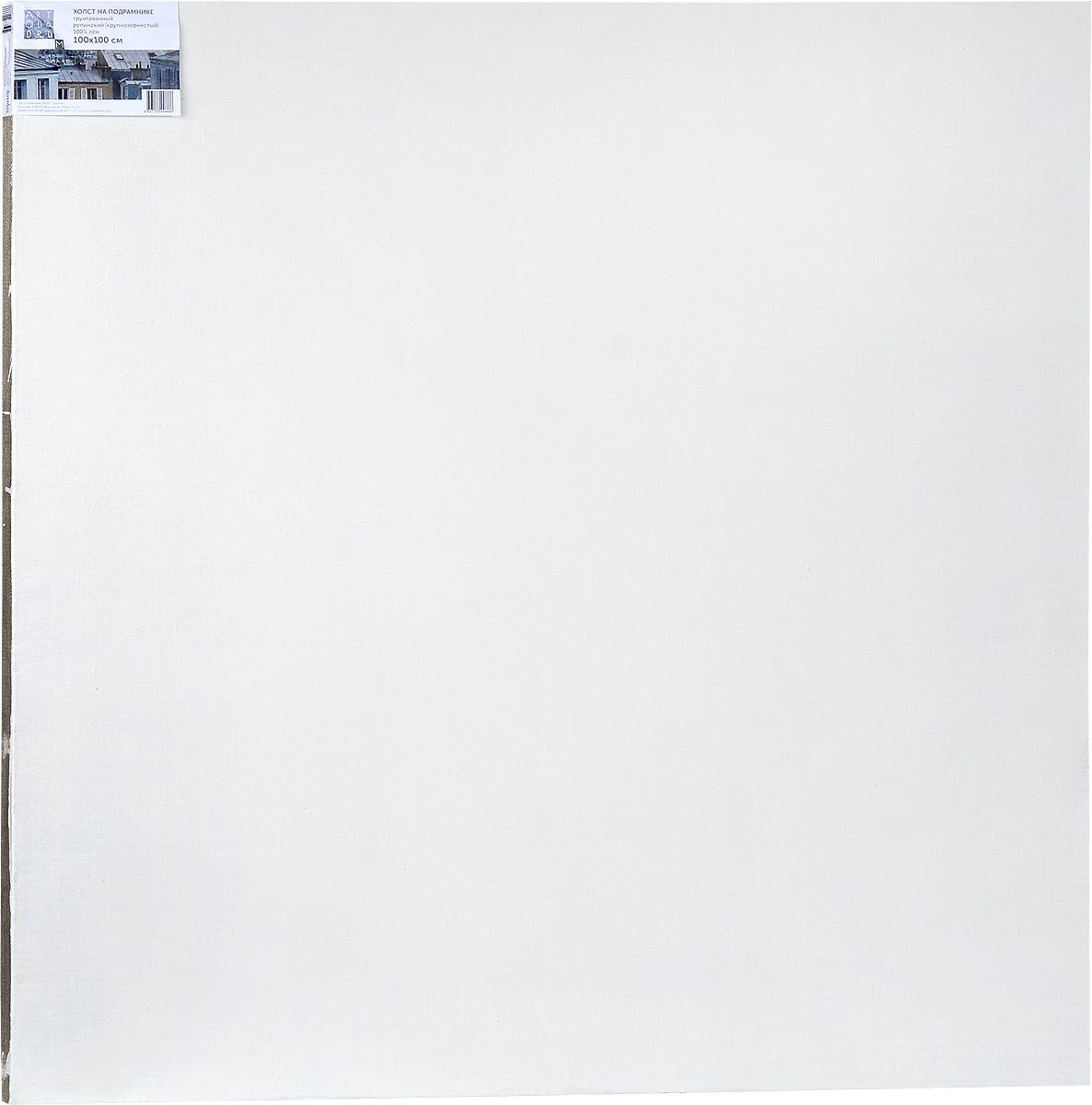 Холст ArtQuaDram Репинский на подрамнике, грунтованный, 100 х 100 смТ0003897Холст на деревянном подрамнике ArtQuaDram Репинский изготовлен из 100% натурального льна. Подходит для профессионалов и художников. Холст не трескается, не впитывает слишком много краски, цвет краски и качество не изменяются. Холст идеально подходит для масляной и акриловой живописи.