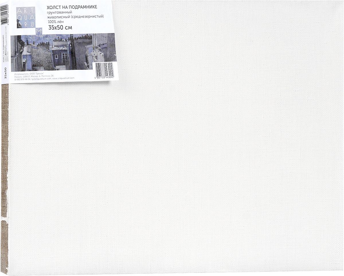 Холст ArtQuaDram Живописный на подрамнике, грунтованный, 35 х 50 смТ0003743Холст на деревянном подрамнике ArtQuaDram Живописный изготовлен из 100% натурального льна. Подходит для профессионалов и художников. Холст не трескается, не впитывает слишком много краски, цвет краски и качество не изменяются. Холст идеально подходит для масляной и акриловой живописи.