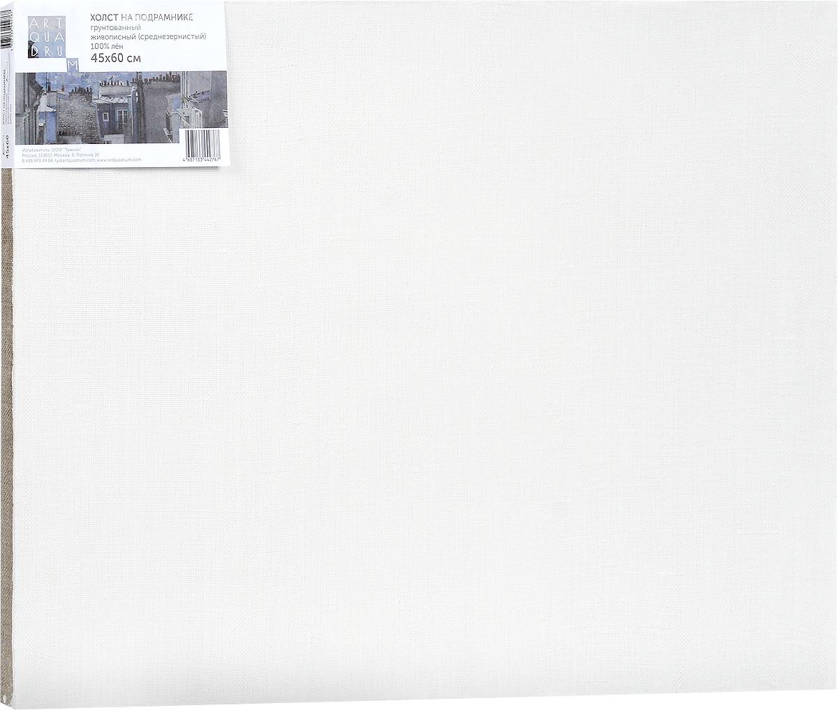 Холст ArtQuaDram Живописный на подрамнике, грунтованный, 45 х 60 смТ0003750Холст на деревянном подрамнике ArtQuaDram Живописный изготовлен из 100% натурального льна. Подходит для профессионалов и художников. Холст не трескается, не впитывает слишком много краски, цвет краски и качество не изменяются. Холст идеально подходит для масляной и акриловой живописи.