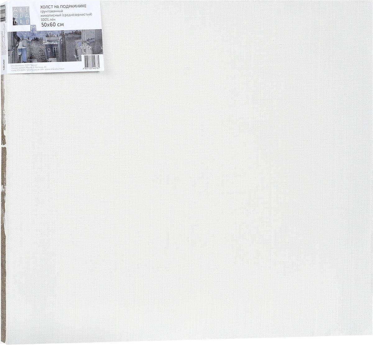 Холст ArtQuaDram Живописный на подрамнике, грунтованный, 50 х 60 смТ0003752Холст на деревянном подрамнике ArtQuaDram Живописный изготовлен из 100% натурального льна. Подходит для профессионалов и художников. Холст не трескается, не впитывает слишком много краски, цвет краски и качество не изменяются. Холст идеально подходит для масляной и акриловой живописи.
