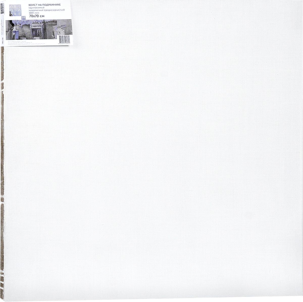 Холст ArtQuaDram Живописный на подрамнике, среднезернистый, грунтованный, 70 х 70 см00-00002584Холст на деревянном подрамнике ArtQuaDram Живописный изготовлен из 100% натурального льна. Подходит для профессионалов и художников. Холст не трескается, не впитывает слишком много краски, цвет краски и качество не изменяются. Холст идеально подходит для масляной и акриловой живописи.