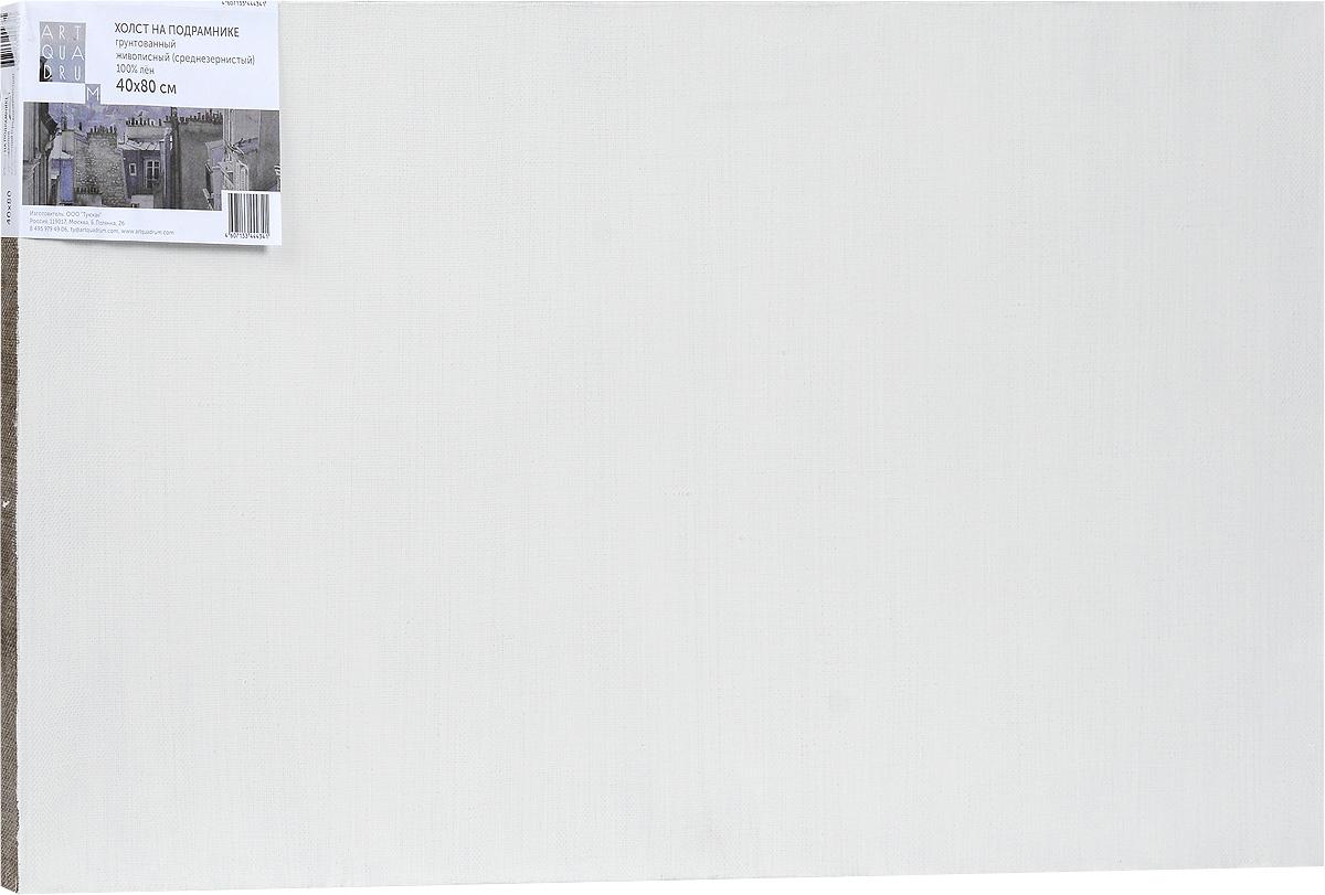 Холст ArtQuaDram Живописный на подрамнике, среднезернистый, грунтованный, 40 х 80 смТ0003748Холст на деревянном подрамнике ArtQuaDram Живописный изготовлен из 100% натурального льна. Подходит для профессионалов и художников. Холст не трескается, не впитывает слишком много краски, цвет краски и качество не изменяются. Холст идеально подходит для масляной и акриловой живописи.