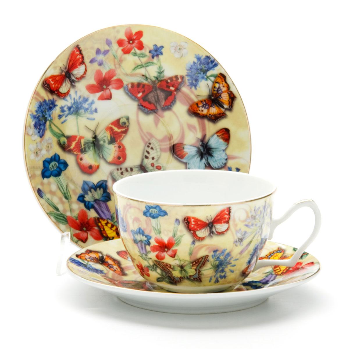 Чайная пара Loraine Бабочки, 250 мл, 2 предмета24587Этот чайный набор, выполненный из керамики, состоит из 1 чашки и 1 блюдца. Предметы набора оформлены ярким изображением БАБОЧКИ. Изящный дизайн и красочность оформления придутся по вкусу и ценителям классики, и тем, кто предпочитает утонченность и изысканность. Чайная пара- идеальный и необходимый подарок для вашего дома и для ваших друзей в праздники, юбилеи и торжества! Он также станет отличным корпоративным подарком и украшением любой кухни. Чайная пара упакована в подарочную коробку из плотного цветного картона. Внутренняя часть коробки задрапирована белым атласом.