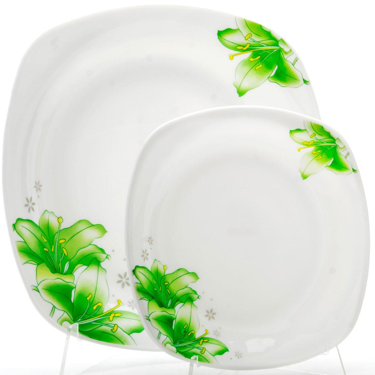 Набор тарелок Loraine, 7 предметов. 2368923689Набор посуды изготовлен из высококачественного стекла. Элегантный дизайн прекрасно дополнит Вашу кухню. Наш набор тарелок будет прекрасным украшением стола. Набор тарелок LORAINE - идеальный и необходимый подарок для вашего дома и для ваших друзей в праздники.