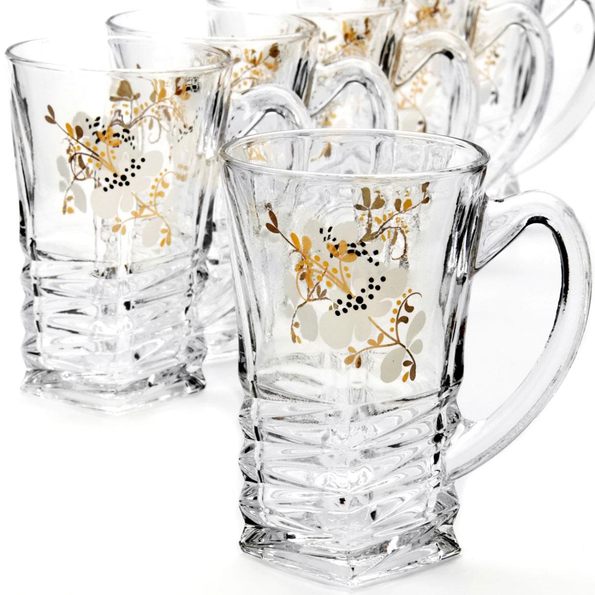 Набор стаканов Mayer & Boch, 195 мл, 6 шт24083Набор, состоящий из шести стаканов, несомненно, придется вам по душе. Стаканы выполнены из высококачественного стекла в мягких тонах с оригинальным цветочным узором. Благодаря такому набору пить напитки будет еще вкуснее. Набор стаканов Loraine станет также отличным подарком на любой праздник. Подходит для горячих и холодных напитков.