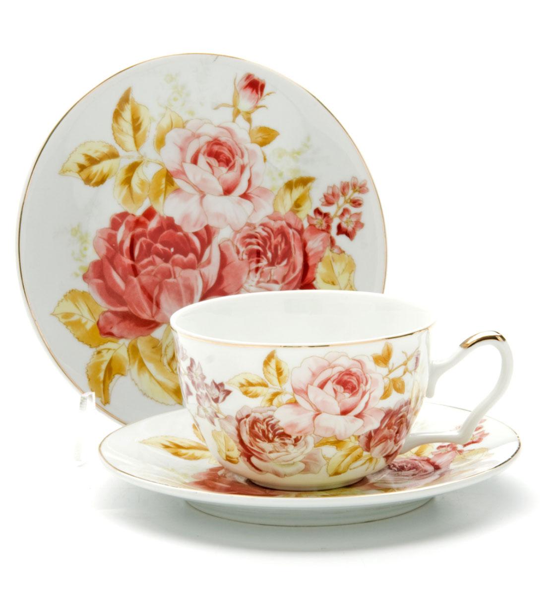 Чайная пара Loraine Розы, 250 мл, 2 предмета. 2459124591Этот чайный набор, выполненный из керамики, состоит из 1 чашки и 1 блюдца. Предметы набора оформлены ярким изображением цветов. Изящный дизайн и красочность оформления придутся по вкусу и ценителям классики, и тем, кто предпочитает утонченность и изысканность. Чайная пара- идеальный и необходимый подарок для вашего дома и для ваших друзей в праздники, юбилеи и торжества! Он также станет отличным корпоративным подарком и украшением любой кухни. Чайная пара упакована в подарочную коробку из плотного цветного картона. Внутренняя часть коробки задрапирована белым атласом.