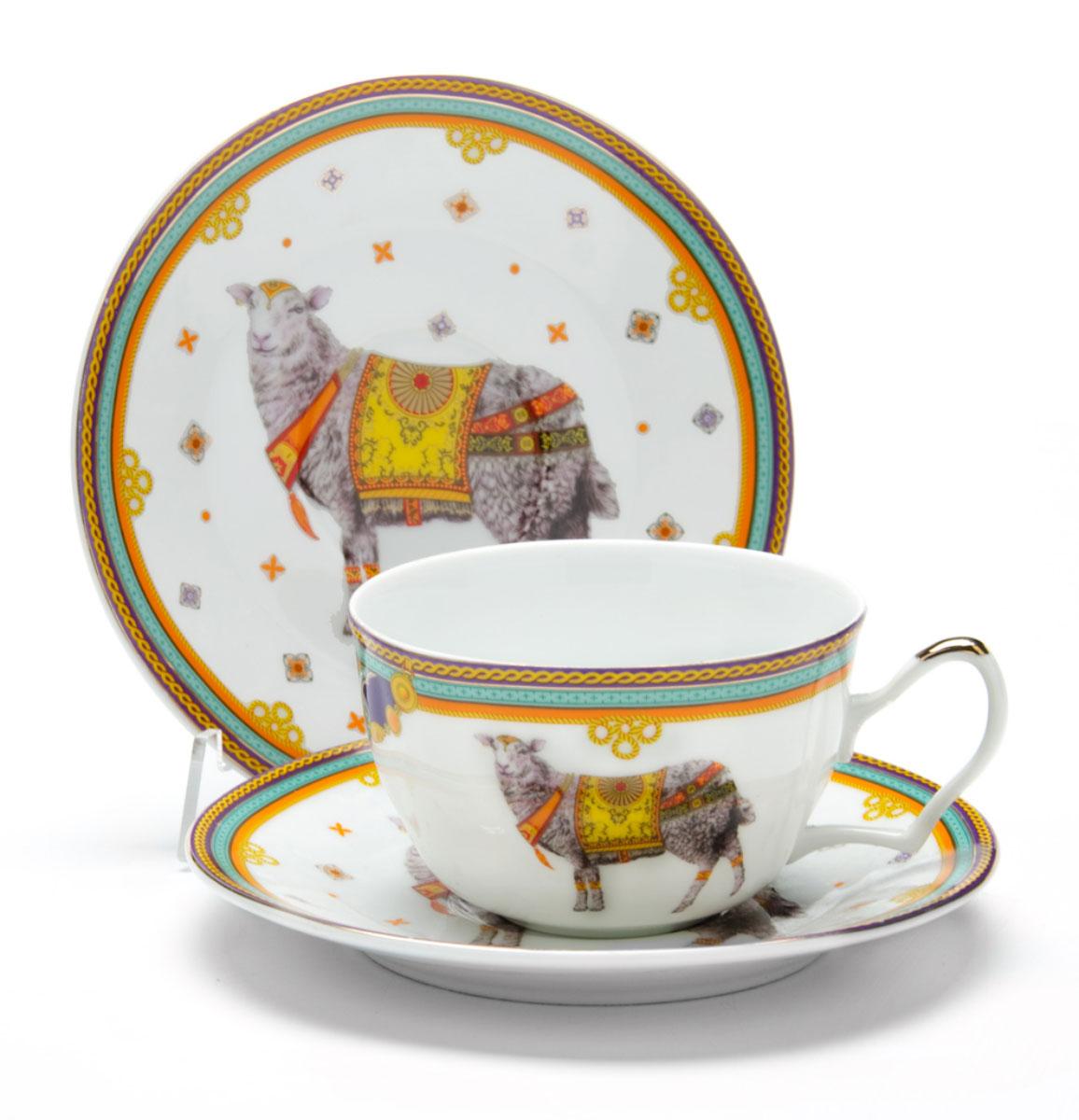 Чайная пара Loraine Барашек, 250 мл, 2 предмета24505Этот чайный набор, выполненный из керамики, состоит из 1 чашка и 1 блюдце. Предметы набора оформлены ярким изображением БАРАШЕК. Изящный дизайн и красочность оформления придутся по вкусу и ценителям классики, и тем, кто предпочитает утонченность и изысканность. Чайная пара- идеальный и необходимый подарок для вашего дома и для ваших друзей в праздники, юбилеи и торжества! Он также станет отличным корпоративным подарком и украшением любой кухни. Чайная пара упакована в подарочную коробку из плотного цветного картона. Внутренняя часть коробки задрапирована белым атласом.