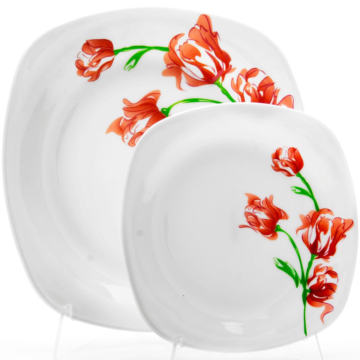 Набор тарелок Loraine, 7 предметов. 2369023690Наш набор тарелок будет прекрасным украшением стола.