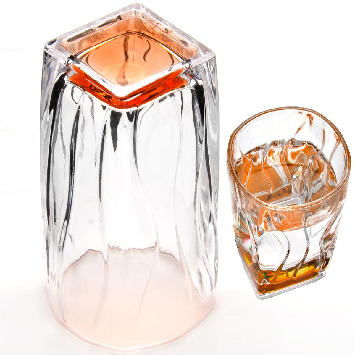 Набор стаканов Loraine, 290 мл, 6 шт. 2407324073Набор Loraine состоит из шести стаканов, выполненных из высококачественного стекла в мягких тонах с оригинальным дизайном. Стаканы предназначены для подачи воды, сока и других напитков. Они излучают приятный блеск и издают мелодичный звон. Такой набор прекрасно оформит праздничный стол и создаст приятную атмосферу за романтическим ужином. Не рекомендуется мыть в посудомоечной машине. Изделия подходят для хранения в холодильнике. Диаметр стакана (по верхнему краю): 7 см. Высота стакана: 12 см.