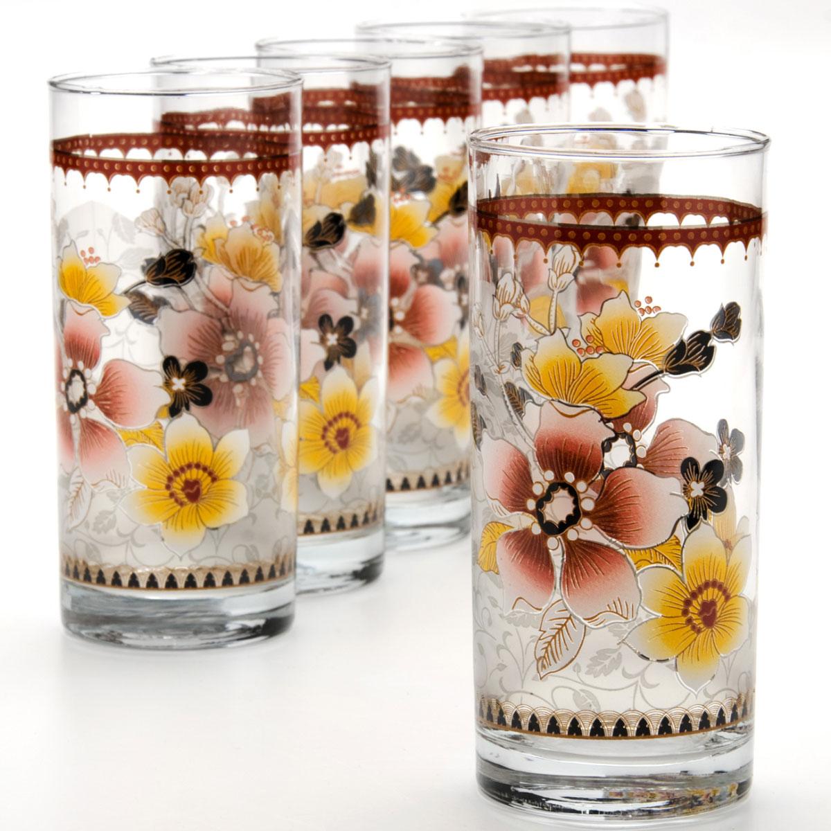 Набор стаканов Mayer & Boch, 370 мл, 6 шт. 2407624076Набор, состоящий из шести стаканов, несомненно, придется вам по душе. Стаканы выполнены из высококачественного стекла в мягких тонах с оригинальным цветочным узором. Благодаря такому набору пить напитки будет еще вкуснее. Набор стаканов Loraine станет также отличным подарком на любой праздник. Подходит для горячих и холодных напитков