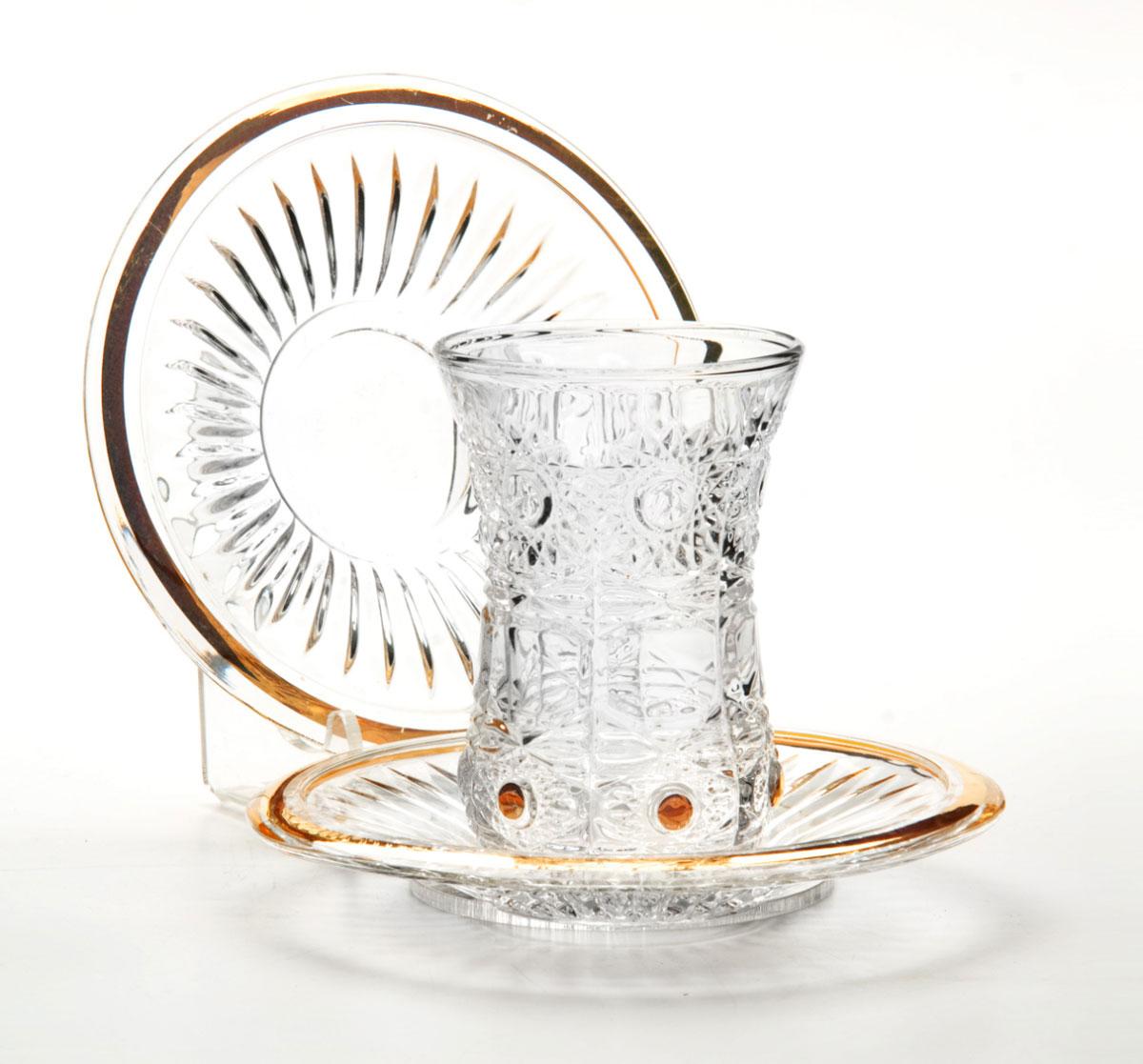 Набор стаканов Mayer & Boch, с блюдцами, 190 мл, 12 предметов24695Набор, состоящий из шести стаканов и шести блюдец, несомненно, придется вам по душе. Стаканы выполнены из высококачественного стекла в мягких тонах с оригинальным цветочным узором. Благодаря такому набору пить напитки будет еще вкуснее. Набор стаканов Loraine станет также отличным подарком на любой праздник. Подходит для горячих и холодных напитков.