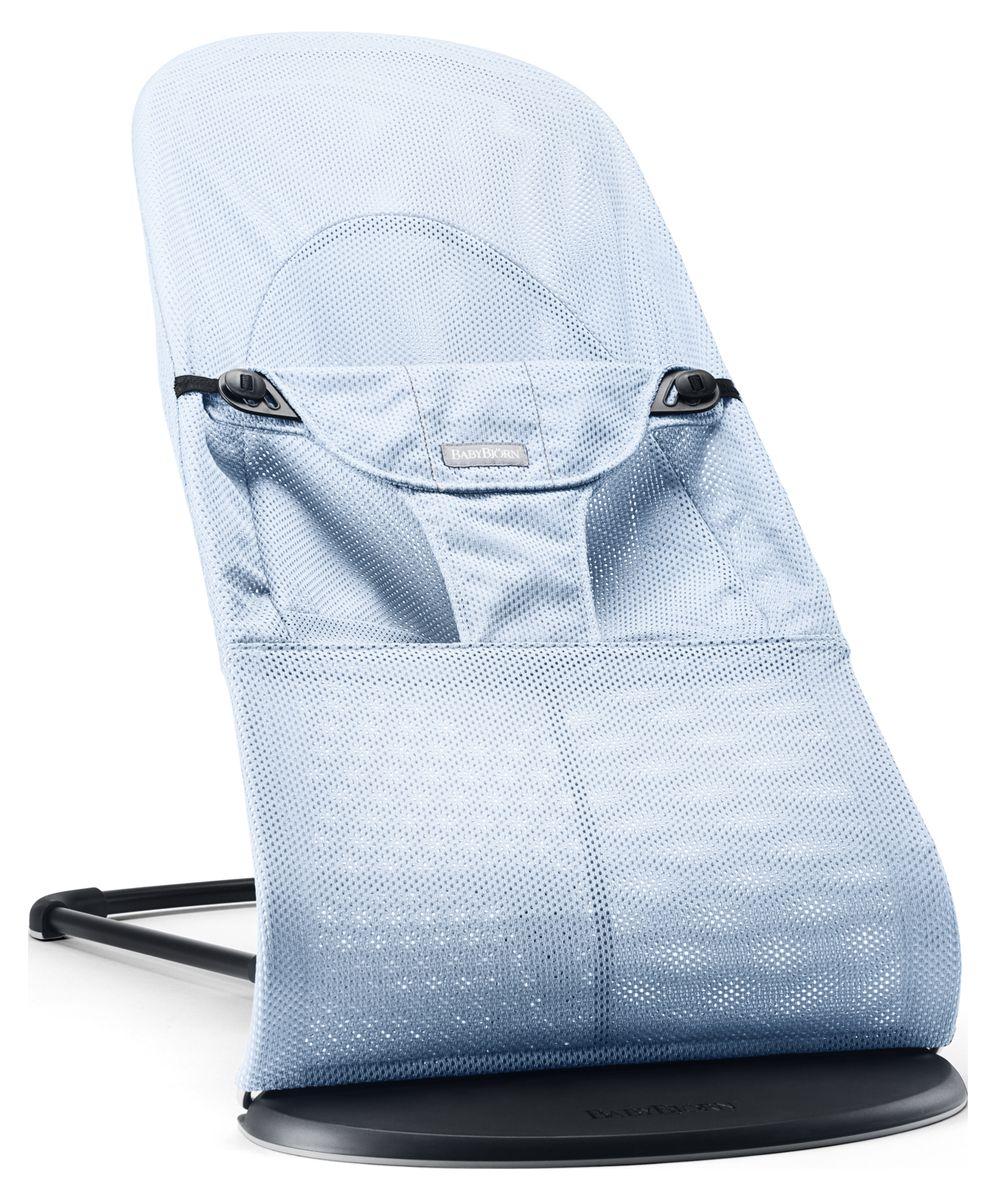 BabyBjorn Кресло-шезлонг Balance Soft Mesh цвет голубой