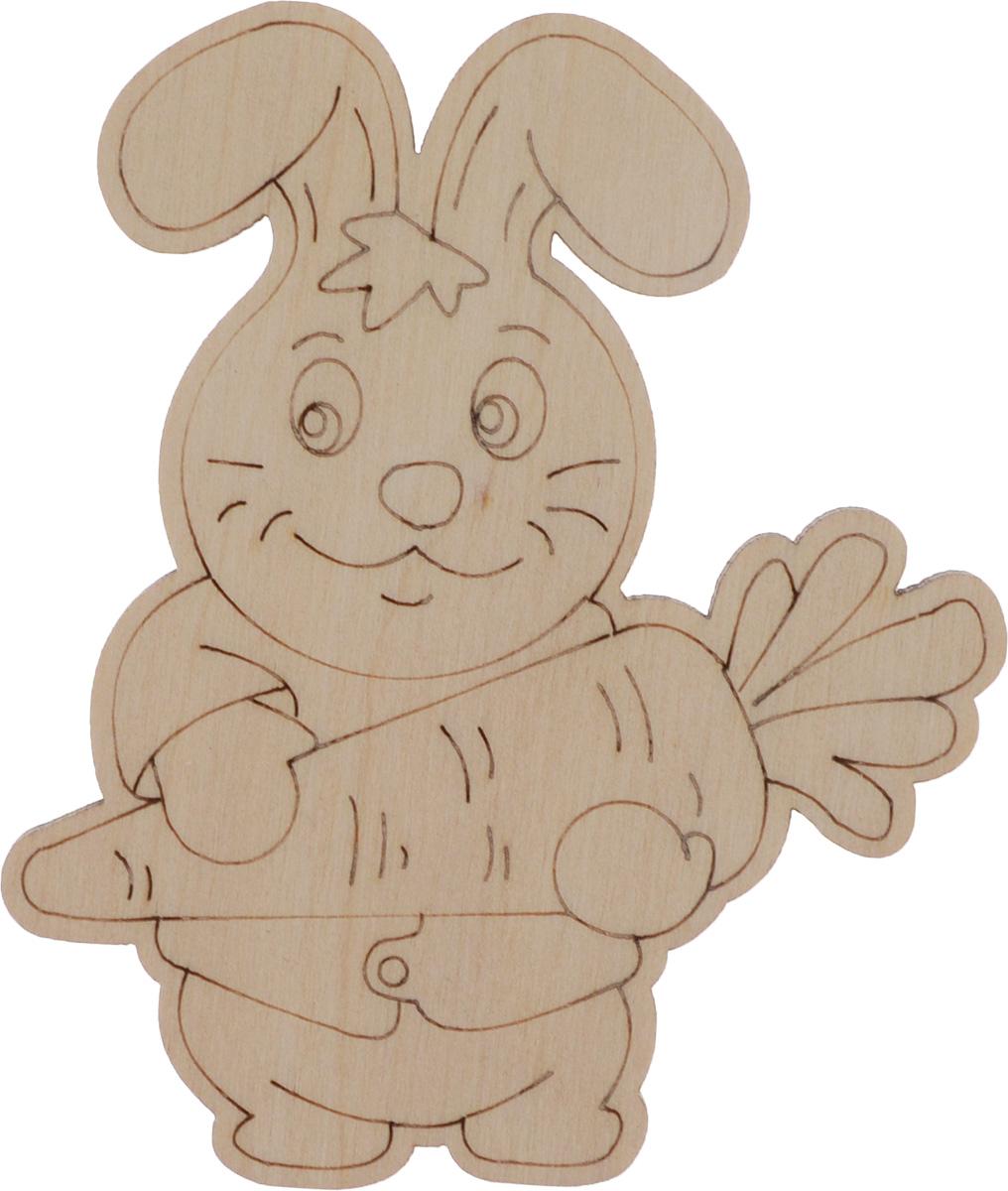 Деревянная заготовка Астра Зайка с морковкой, 7,5 x 9 см582176Заготовка Астра Зайка с морковкой изготовлена из дерева. Изделие, выполненное в виде милой зайки, станет хорошим объектом для вашего творчества и занятий декупажем. Заготовка, раскрашенная красками, будет прекрасным украшением интерьера или отличным подарком.