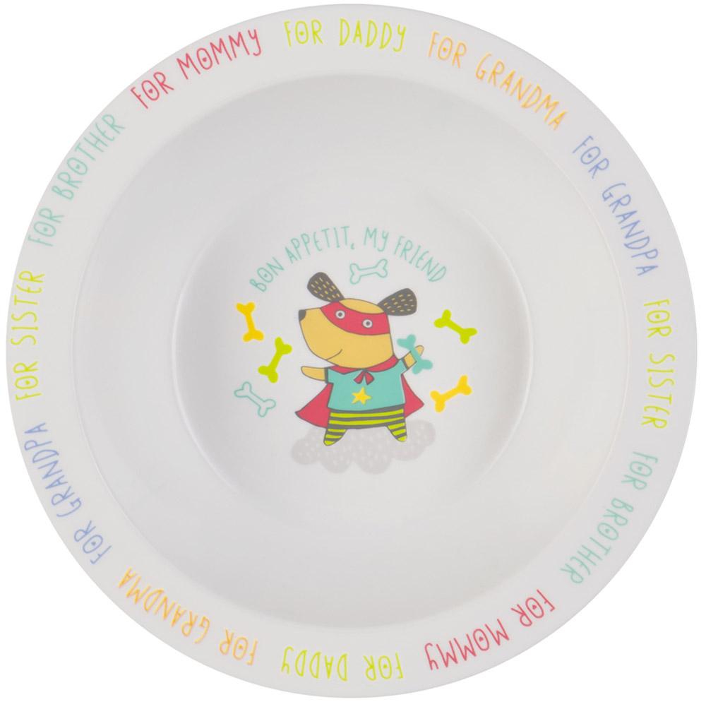 Happy Baby Тарелка глубокая для кормления с присоской Собака