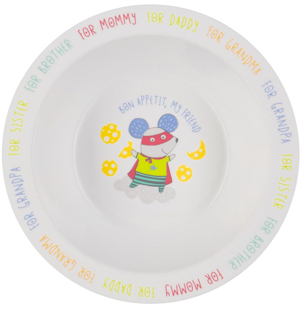 Happy Baby Тарелка глубокая для кормления с присоской Мышь