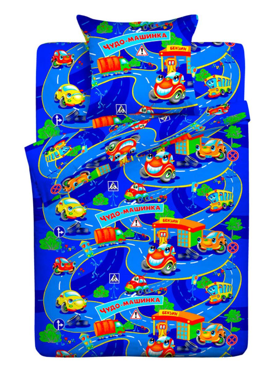 Letto Комплект детского постельного белья Чудо-машинка