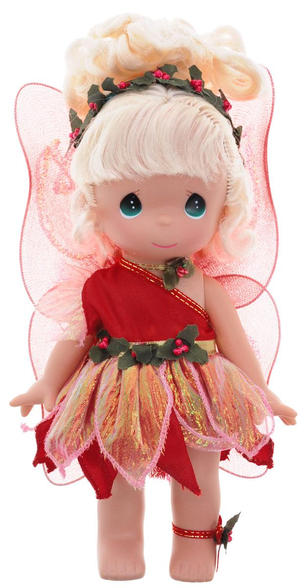 Precious Moments Кукла Рождественские колокольчики3517Коллекция кукол Precious Moments насчитывает на сегодняшний день более 600 видов. Куклы изготавливаются из качественного и безопасного материала. Каждый год в коллекцию добавляются все новые и новые модели. Каждая кукла имеет свой неповторимый образ и характер. Она может быть подарком на память о каком-либо событии в жизни. Куклы выполнены с любовью и нежностью, которую дарит нам известная волшебница - создатель кукол Линда Рик! Кукла Рождественские колокольчики одета в очаровательное блестящее платье красного цвета. За спиной куклы - полупрозрачные крылышки, украшенные блестками. Светлые волосы куклы собраны в милую прическу. У девочки большие зеленые глаза. Вся одежда съемная. Кукла научит ребенка взаимодействовать с окружающими, а также поспособствует развитию воображения, логики и тактильного восприятия. Кукла станет отличным подарком для девочки, а также ценным экспонатом любой коллекции кукол.
