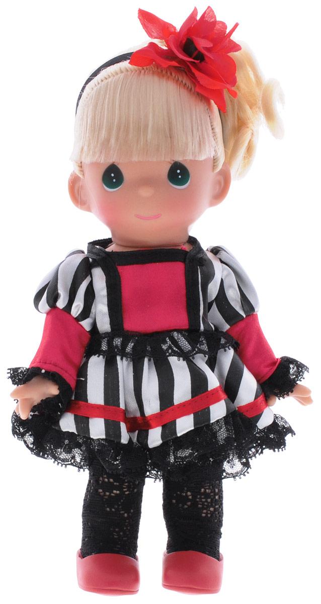 Precious Moments Кукла Сесиль Франция3538Коллекция кукол Precious Moments насчитывает на сегодняшний день более 600 видов. Куклы изготавливаются из качественного и безопасного материала. Каждый год в коллекцию добавляются все новые и новые модели. Каждая кукла имеет свой неповторимый образ и характер. Она может быть подарком на память о каком-либо событии в жизни. Куклы выполнены с любовью и нежностью, которую дарит нам известная волшебница - создатель кукол Линда Рик! Кукла Сесиль. Франция одета в платье и черные ажурные колготки, на ногах - красные туфельки. Светлые волосы куклы собраны в хвост и дополнены ободком с красным цветком. У девочки большие зеленые глаза. Вся одежда съемная. Кукла научит ребенка взаимодействовать с окружающими, а также поспособствует развитию воображения, логики и тактильного восприятия. Кукла станет отличным подарком для девочки, а также ценным экспонатом любой коллекции кукол.