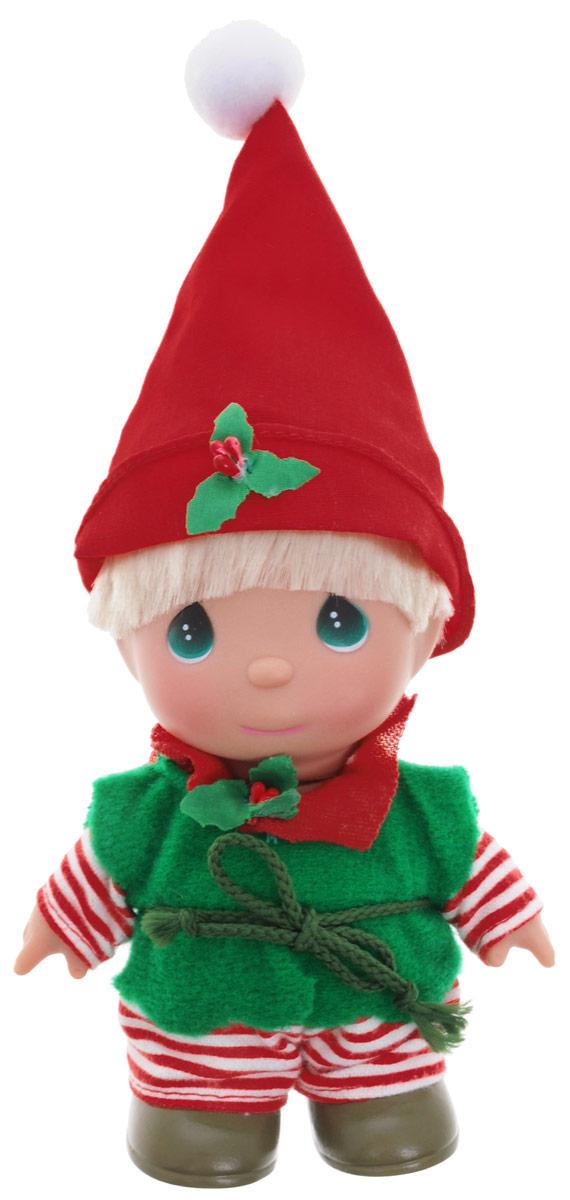 Precious Moments Мини-кукла Гномик5375Какие же милые эти куколки Precious Moments. Создатель этих очаровательных крошек настоящая волшебница - Линда Рик - оживила свои творения, каждая кукла обрела свой милый и неповторимый образ. Эти крошки могут сопровождать вас в чудесных странствиях и сделать каждый момент вашей жизни незабываемым! Мини-кукла Гномик одета в полосатые штаны и зеленую жилетку, на голове - красный колпак. У мальчика светлые волосы и большие зеленые глаза. Благодаря играм с куклой, ваша малышка сможет развить фантазию и любознательность, овладеть навыками общения и научиться ответственности. Порадуйте свою принцессу таким прекрасным подарком!