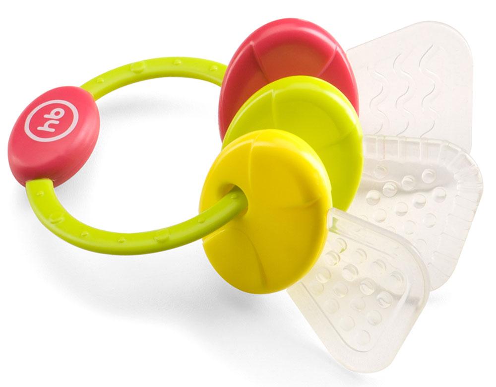 Happy Baby Погремушка-прорезыватель цвет салатовый желтый красный20016_салатовый, желтый, красныйПогремушка-прорезыватель Happy Baby имеет удобную форму и разнофактурную поверхность, которая эффективно массирует десны ребенка, проникает в труднодоступные места ротовой полости и уменьшает дискомфорт при появлении зубов. Подвижные детали имеют удобную форму для ручек ребёнка. Погремушка-прорезыватель способствует развитию слуха, концентрации внимания, мелкой моторики и цветового восприятия. Не содержит Бисфенол-А.
