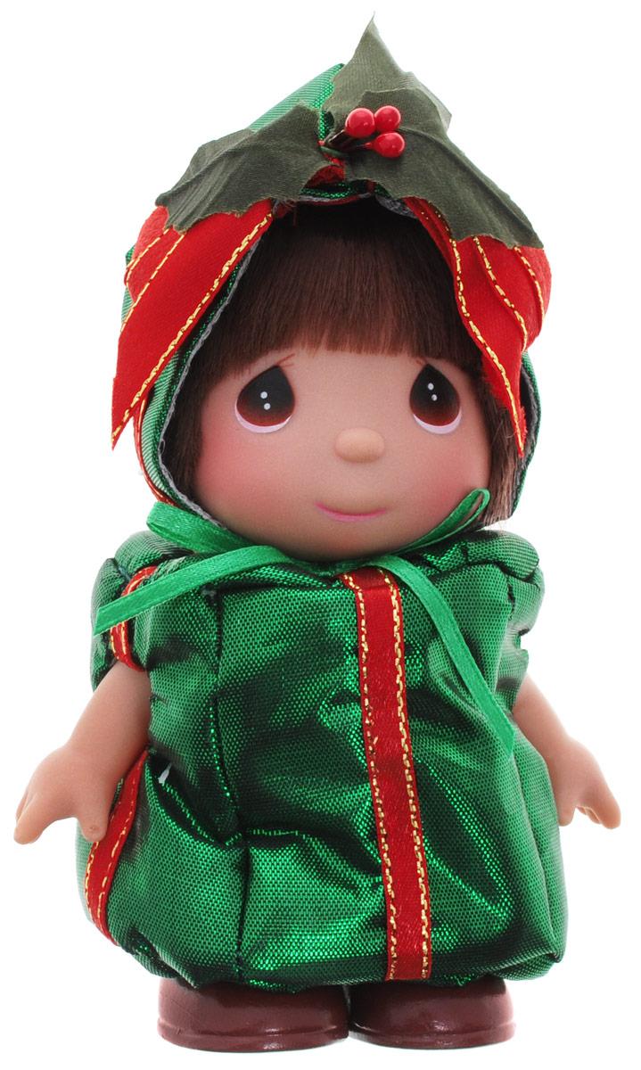 Precious Moments Мини-кукла Подарок5387Какие же милые эти куколки Precious Moments. Создатель этих очаровательных крошек настоящая волшебница - Линда Рик - оживила свои творения, каждая кукла обрела свой милый и неповторимый образ. Эти крошки могут сопровождать вас в чудесных странствиях и сделать каждый момент вашей жизни незабываемым! Мини-кукла Подарок одета в зеленый костюм, оформленный красными ленточками. У куколки большие карие глазки и темные волосы. Благодаря играм с куклой, ваша малышка сможет развить фантазию и любознательность, овладеть навыками общения и научиться ответственности. Порадуйте свою принцессу таким прекрасным подарком!